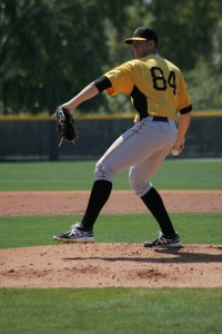 Nick Kingham was sitting 93-95 MPH through two innings today.