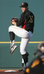 Nick Kingham gave up two runs in five innings, while striking out six.