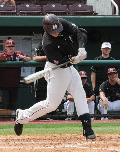 Jonathan Mayo has the Pirates taking Hunter Renfroe with the 14th pick.  Image Courtesy: Mississippi State Athletics